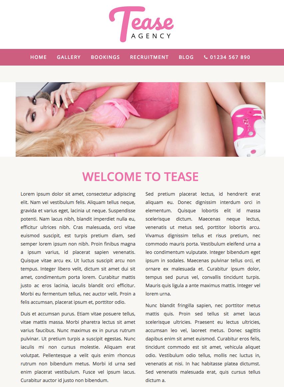 Tease Agency - Website Template