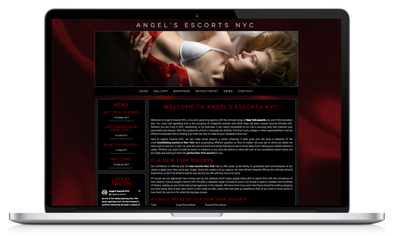 Angel's Escorts NYC - Website