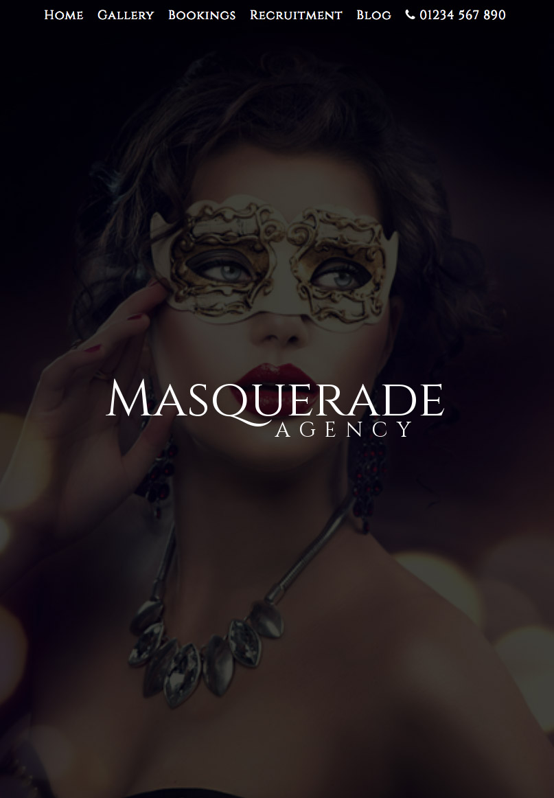Masquerade - Website Template