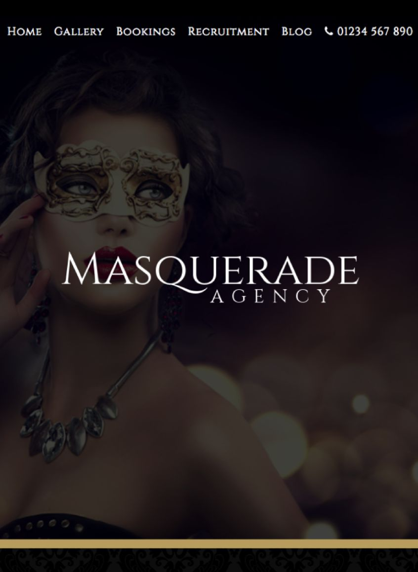 Mockup of our Masquerade Template