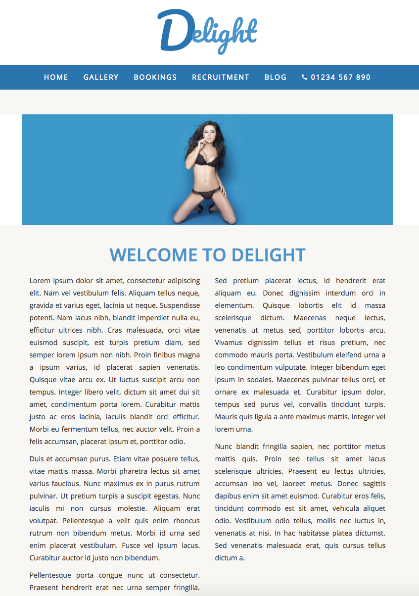 Delight - Website Template
