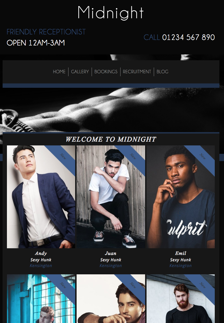Midnight - Website Template