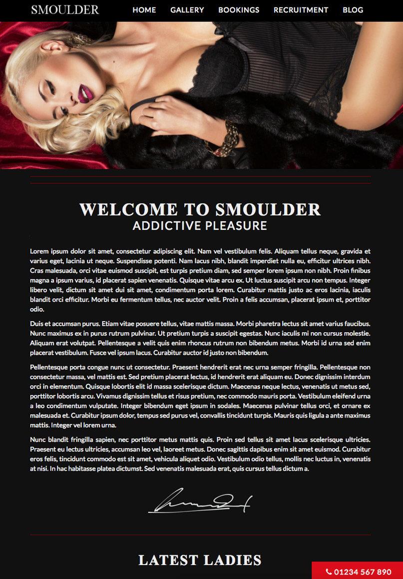 Smoulder - Website Template