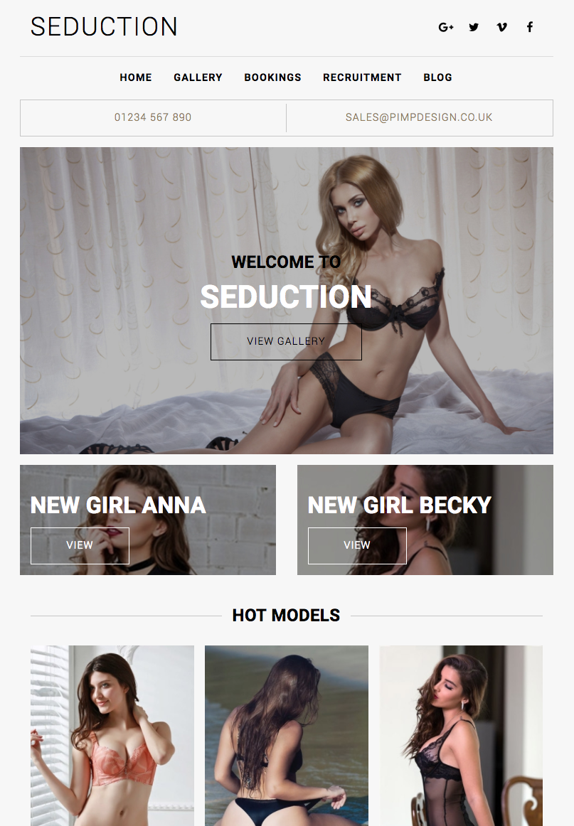 Seduction - Website Template