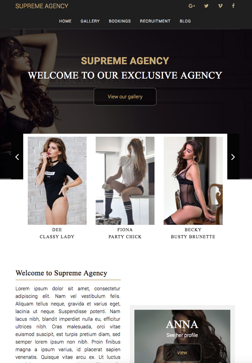Supreme Agency - Website Template
