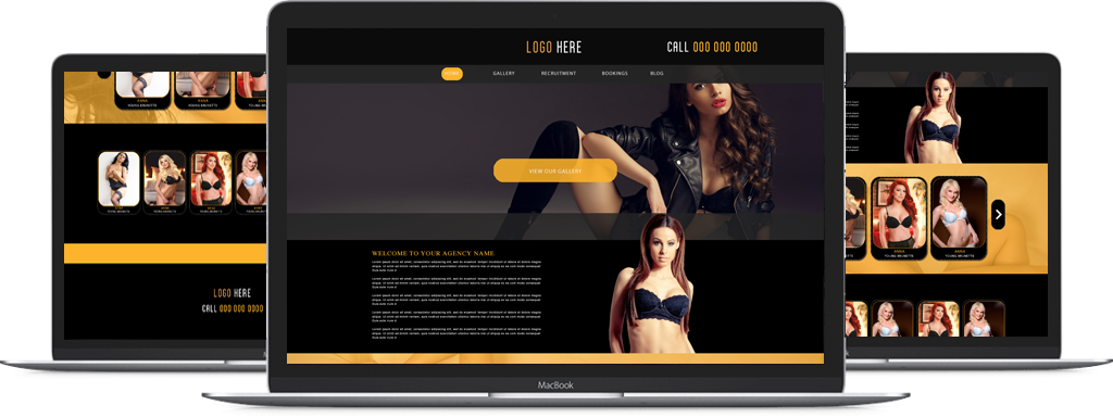 Mac screen preview of our Lush template