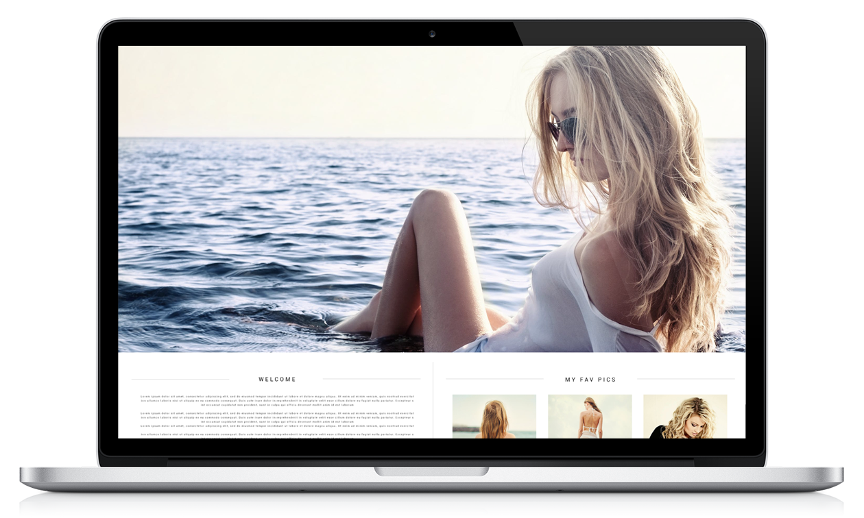 Example screenshot of website on mac laptop